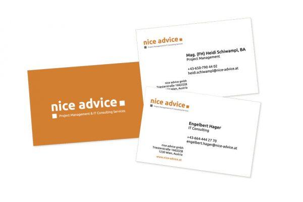 nice advice Visitenkarten